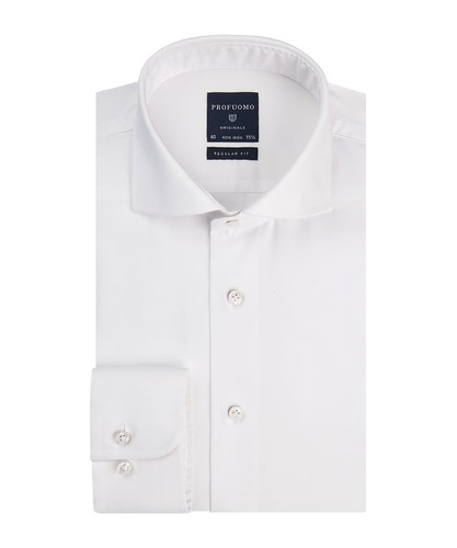 Profuomo Hemd - Weiß - Regular Fit - Fine Twill (1)