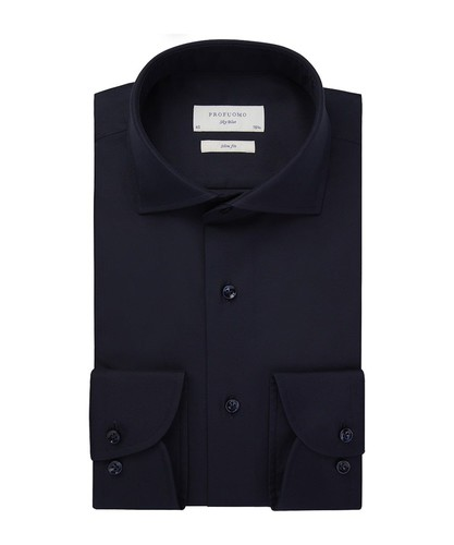 Profuomo Hemd - Dunkelblau - Slim Fit - Royal Twill (1)