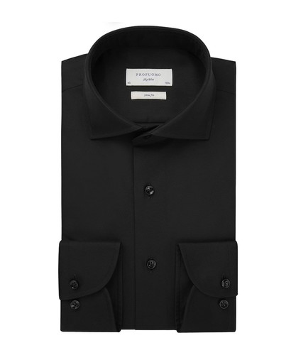 Profuomo Hemd - Schwarz - Slim Fit - Royal Twill (1)